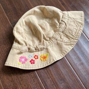 Baby Gap girls soft khaki 12 - 18 month sun hat